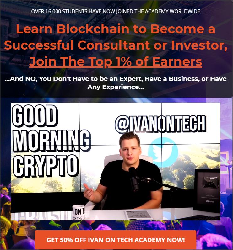 50% korting op Ivan on Tech academy