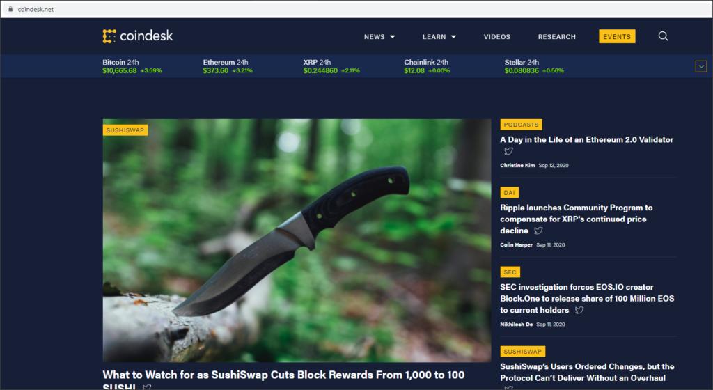 fake coindesk website