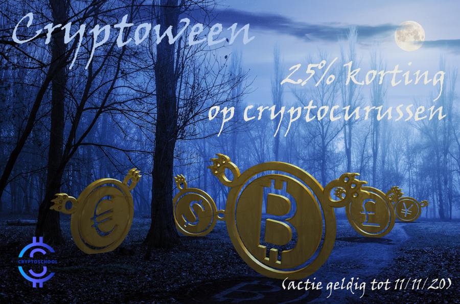 -25% Halloween cryptocurrencycursus