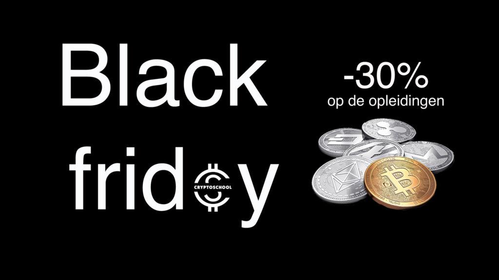 Black Friday 30% korting op crypto-opleidingen