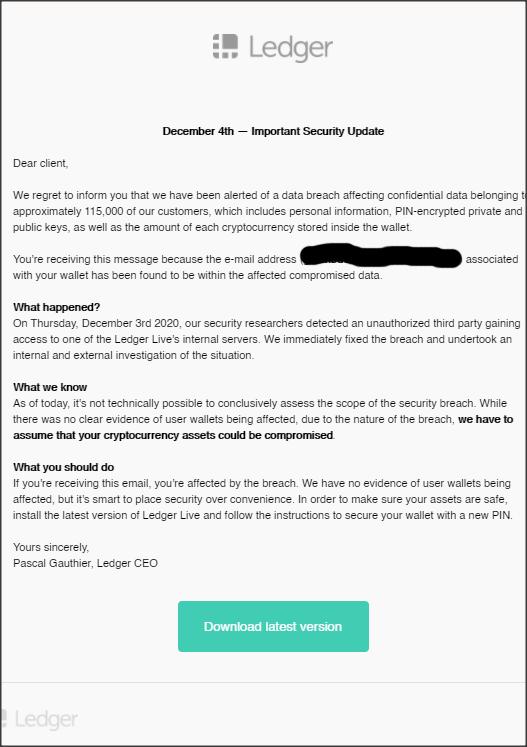 Ledger scam 4 december