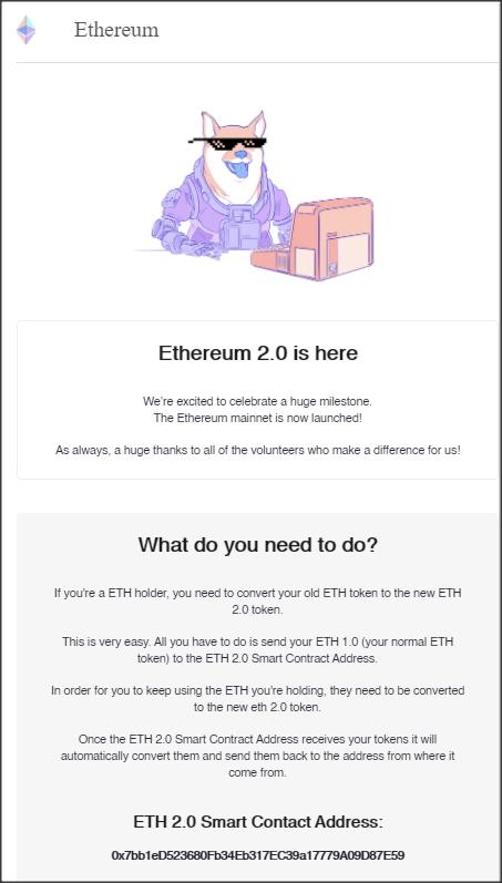 ETH 2.0 scam