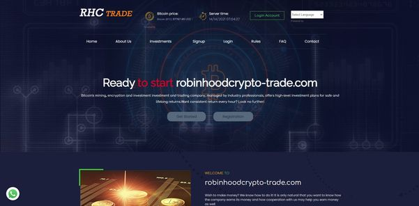 RobinhoodCrypto-Trade oplichting
