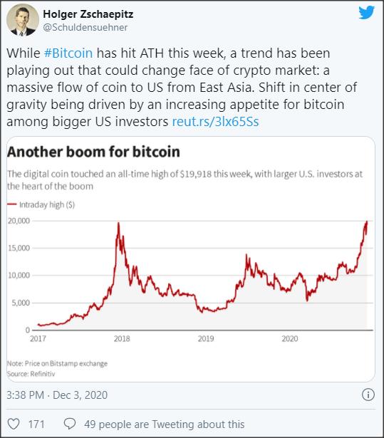 crypto flow Asia to US