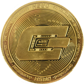 cryptomunt Dash goud