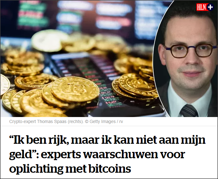 Artikel HLN crypto-oplichterij